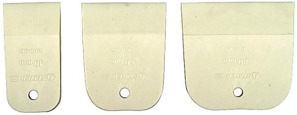 Набор шпателей 40-60-80 бел.резина Сибртех
